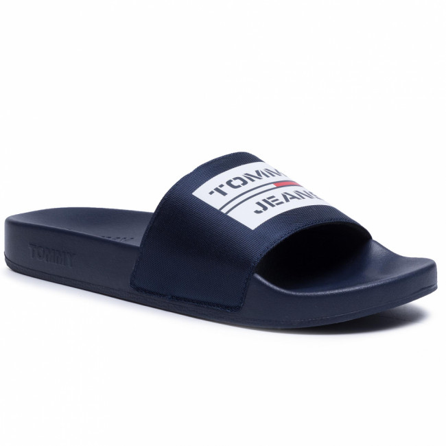Šľapky TOMMY JEANS - Seasonal Poolslide EM0EM00431 Twilight Navy C87