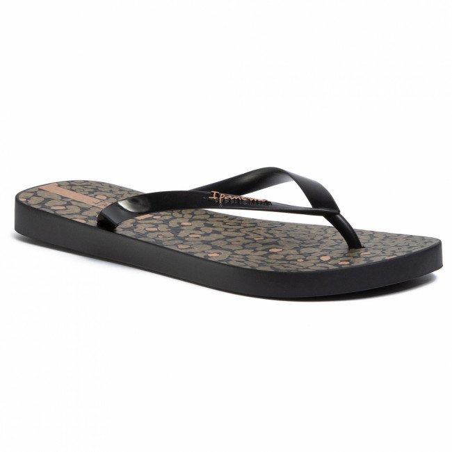 Žabky IPANEMA - Animal Print IV Fem 82881 Black/Black 20766