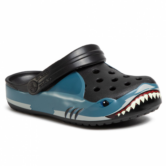 Šľapky CROCS - Fun Lab Shark Band Clg K 206271  Black