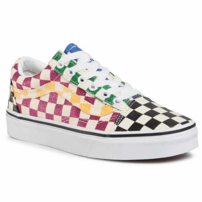 Tenisky VANS - Old Skool VN0A4U3B1HP1 (Glitter Check) Multitrwht