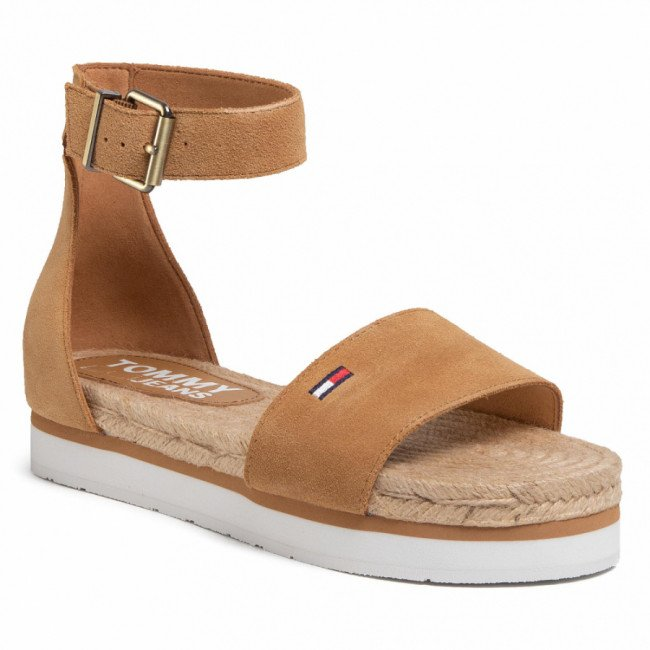 Espadrilky TOMMY JEANS - Natural Rope Sandal  EN0EN00914 Dusty Bronze GQE