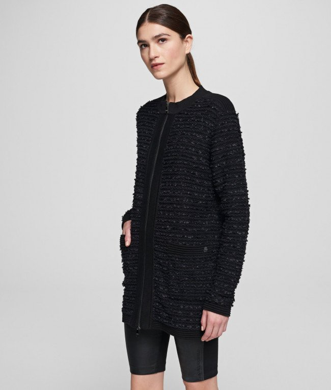 Sveter Karl Lagerfeld Long Boucle Cardigan