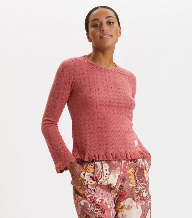 Sveter Odd Molly Wrap Up & Go Sweater - Červená