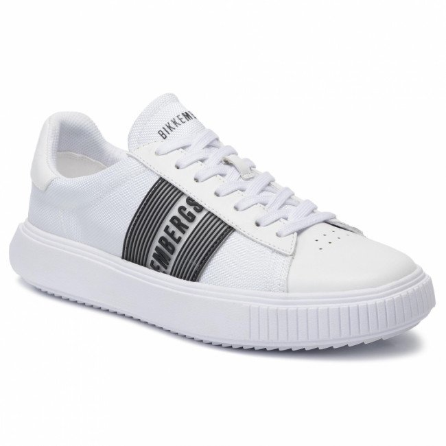 Sneakersy BIKKEMBERGS - Low Top Lace Up B4BKM0027 White