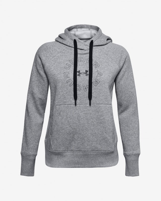 Under Armour Rival Fleece Metallic Mikina Šedá