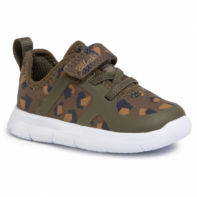 Sneakersy CLARKS - Ath Flux T 261498647 Olive Camo