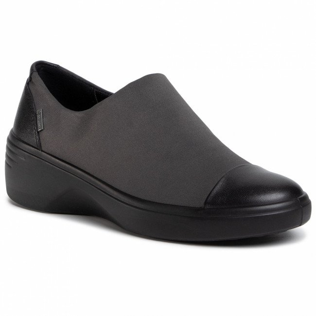 Poltopánky ECCO - Soft 7 Wedge W GORE-TEX 47091352012 Black/Magnet