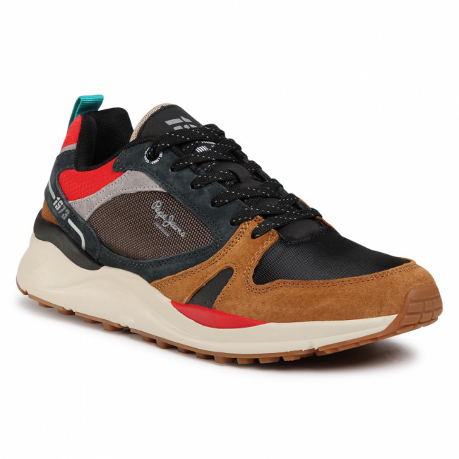 Sneakersy PEPE JEANS - Trail Light Low PMS30678 Cognac 879
