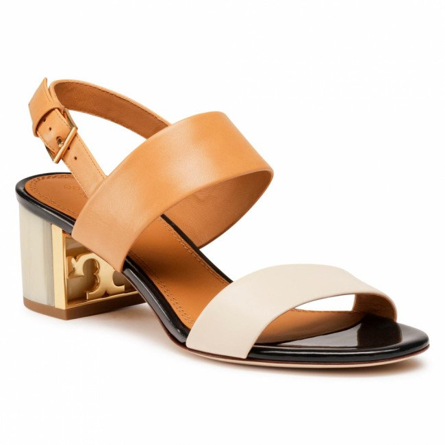 Sandále TORY BURCH - Gigi 50Mm Sandal 74444 Elba Camello/New Cream 264