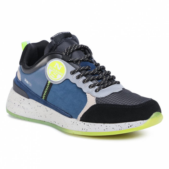 Sneakersy NORTH SAILS - RW/01 Skipper 033 Blue/Yellow Fluo/Black