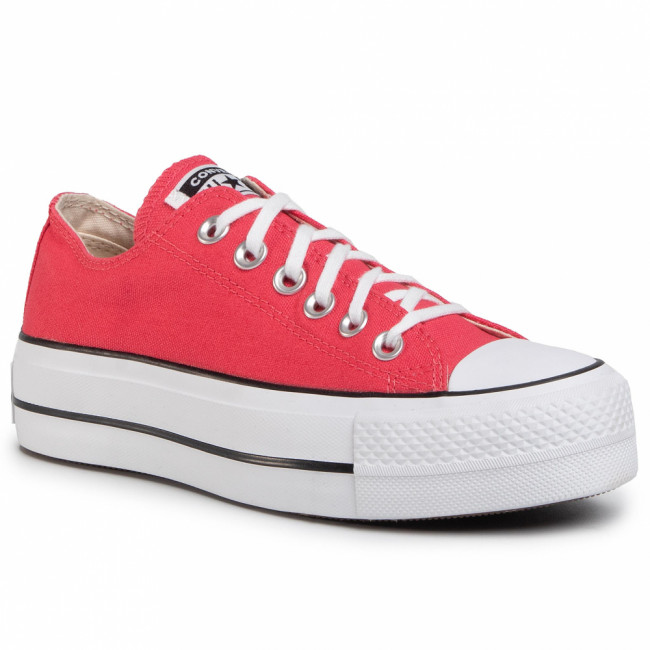 Tramky CONVERSE - Ctas Lift Ox 568625C Carmine Pink/White/Black