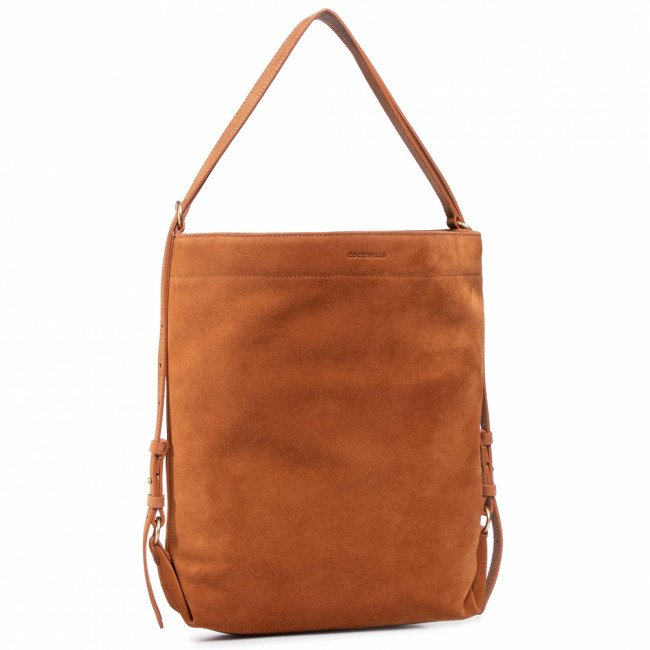 Kabelka COCCINELLE - GBA Cocci Suede E1 GBA 14 01 01 Caramel W03