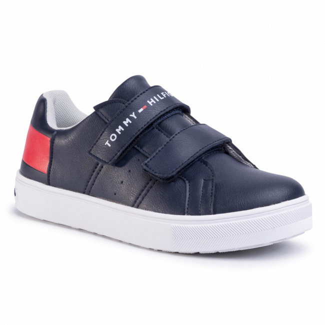 Sneakersy TOMMY HILFIGER - Low Cut Velcro Sneaker T3B4-30719-019 S Blue/White//Red Y004