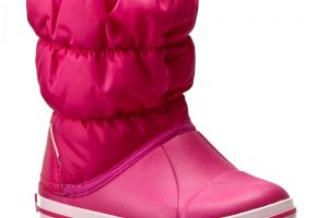 Snehule CROCS - Winter Puff Boot Kids 14613 Candy