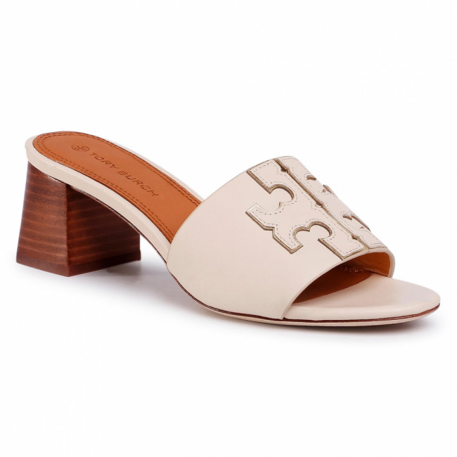 Šľapky TORY BURCH - Ines 55mm Slide 66261 New Cream/Gold 101