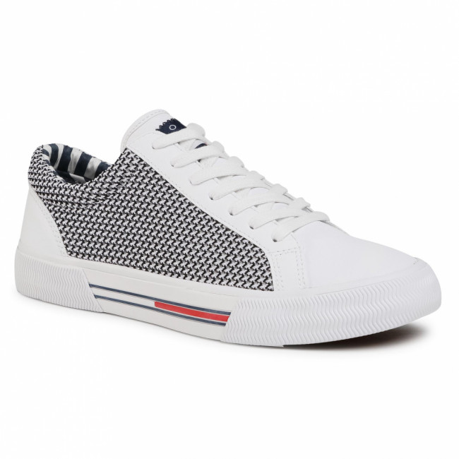Sneakersy TOMMY JEANS - Textile City Sneaker EM0EM00199 White 100