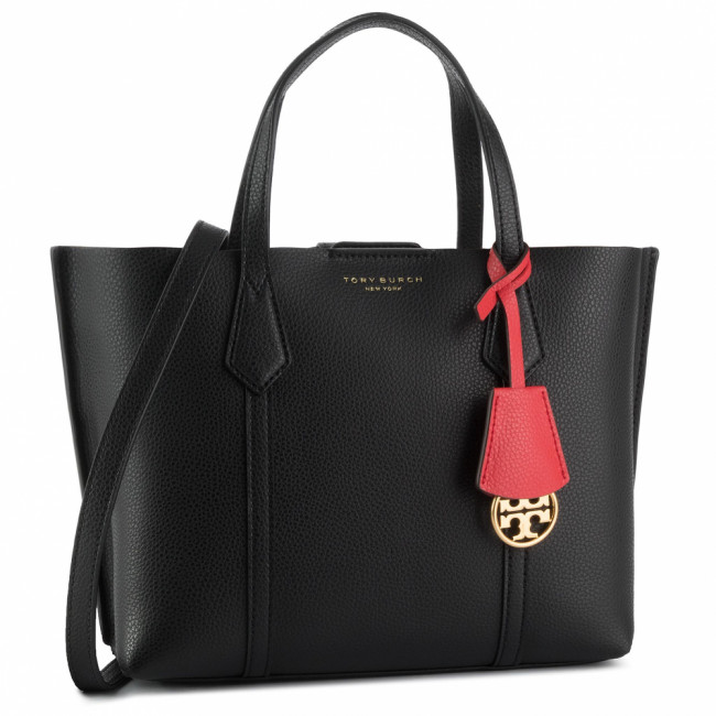 Kabelka TORY BURCH - Perry Smal Triple - Compartment Tote 56249 Black 001