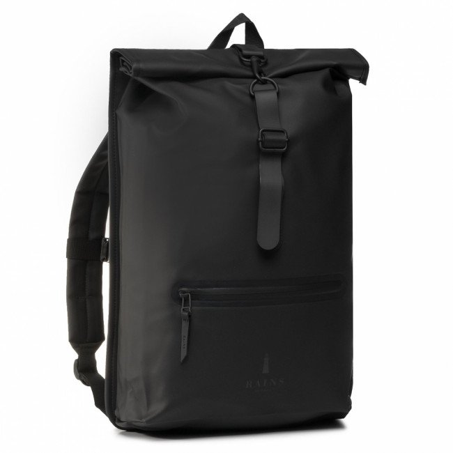 Ruksak RAINS - Roll Top Rucksack 1316  Black 01