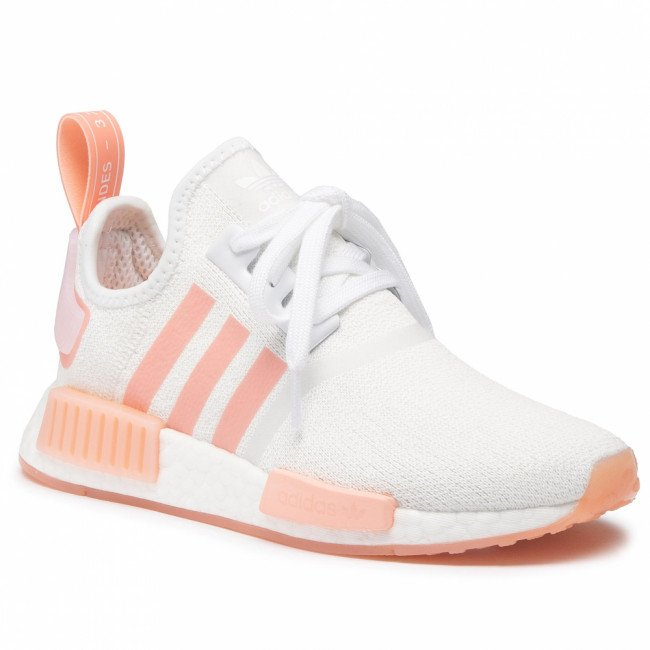 Topánky adidas - Nmd_R1 W FV8730  Cloud White/Cloud White/Haze Coral