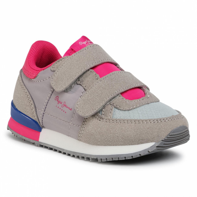 Sneakersy PEPE JEANS - Sydney Basic Girl PGS30454  Grey Marl 933