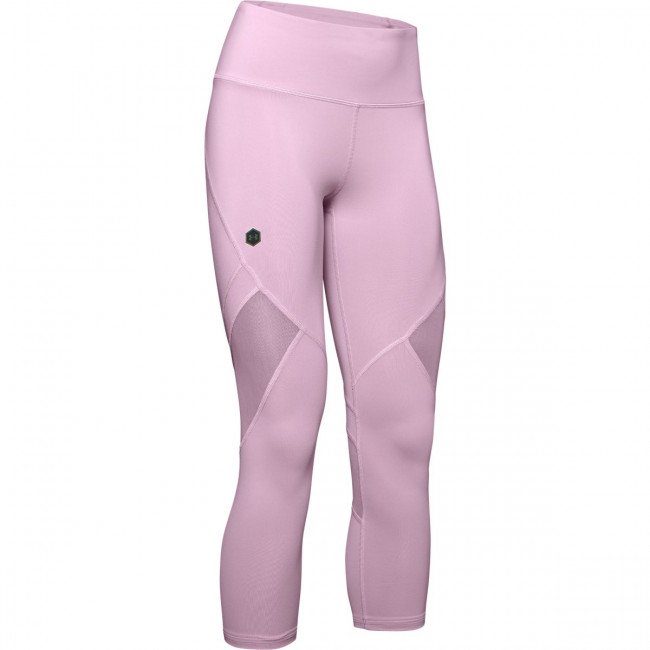 Kompresné legíny Under Armour Rush Crop-Pnk