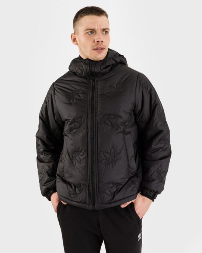 adidas Originals Trefoil Repeat Puffer Bunda Čierna