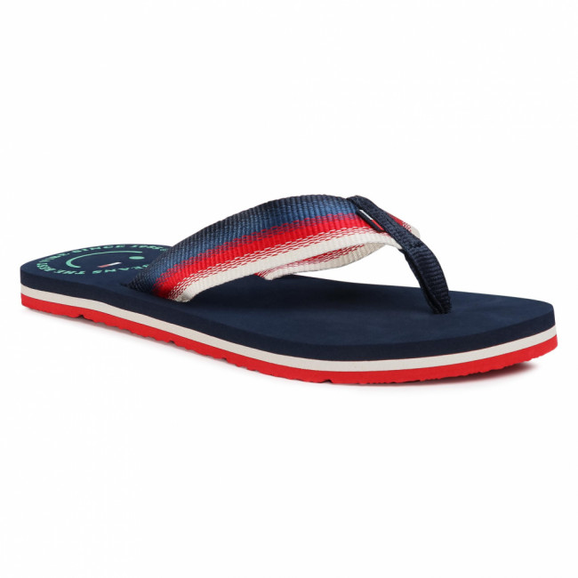 Žabky TOMMY JEANS - Wmn Sustainable Beach Sandal EN0EN00921 Twilight Navy C87