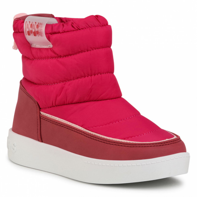 Topánky PEPE JEANS - Brixton Girl Puff PGS50158  Dark Rose 378
