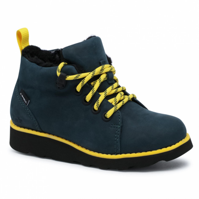 Členková obuv CLARKS - Crown Tor K 261542167  Navy Leather