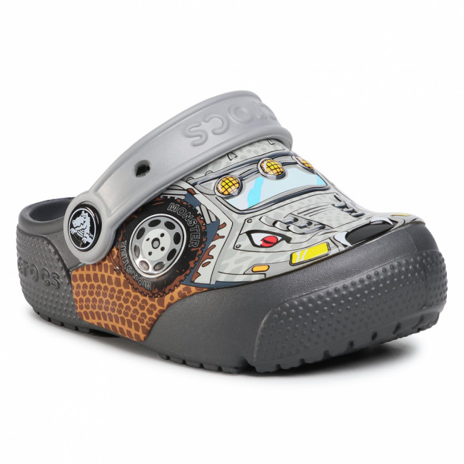 Šľapky CROCS - Crocsfunlab Lights 204133 Monster Tryck/Graphite