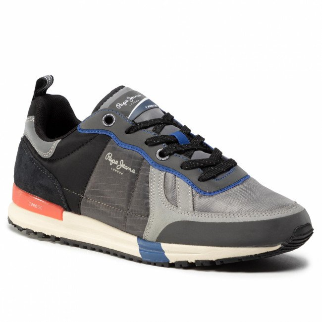 Sneakersy PEPE JEANS - Tinker Pro Sup. 20 PMS30651 Dark Grey 975