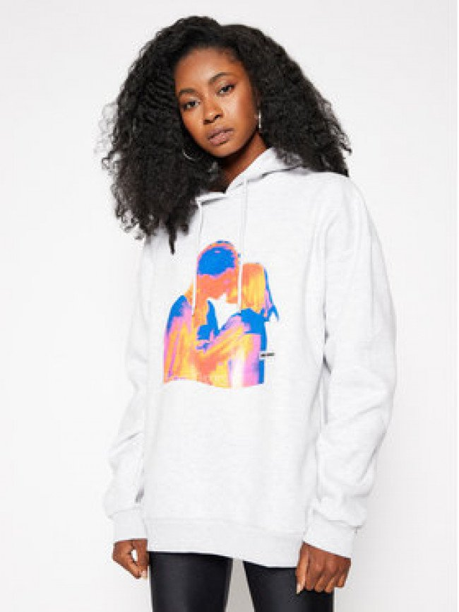 Local Heroes Mikina Free Love Hoodie AW2021S0009 Sivá Regular Fit