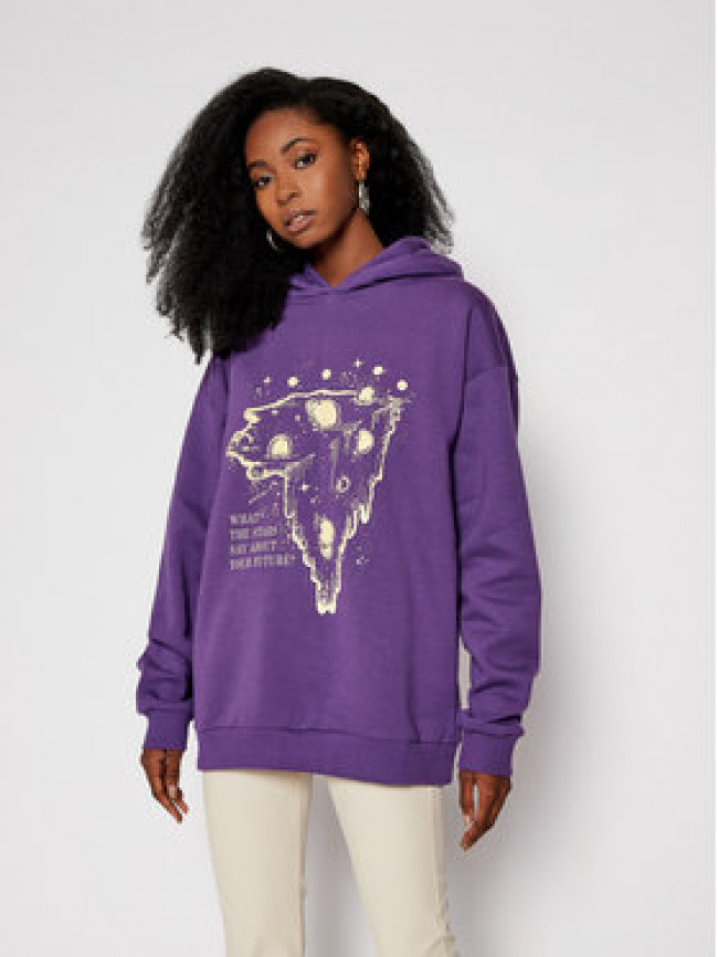 Local Heroes Mikina What Stars Say Hoodie AW2021S0001 Fialová Regular Fit