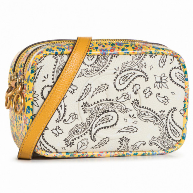 Kabelka TORY BURCH - Perry Mixed-Print Mini Bag 65171 Ivory Batik Medallion/Ivory Americana Bandana 802
