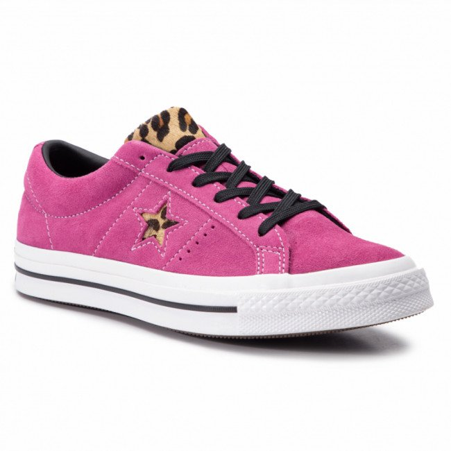 Tenisky CONVERSE - One Star Ox 163243C Active Fuchsia/White/Black