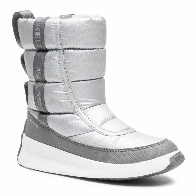 Snehule SOREL - Out N About Puffy Mid NL3394 Pure Silver 034