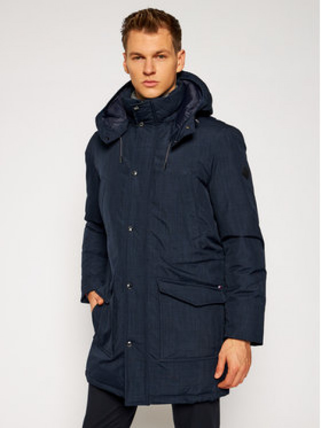 Tommy Hilfiger Tailored Parka Eco Down TT0TT08565 Tmavomodrá Regular Fit