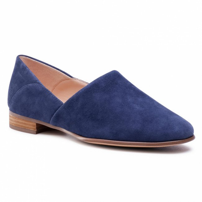 Poltopánky CLARKS - Pure Tone 261541484  Navy Suede
