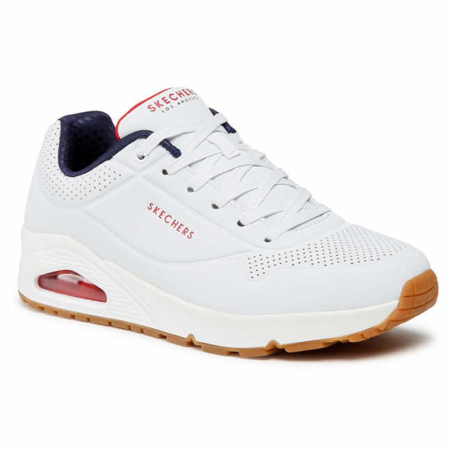 Sneakersy SKECHERS - Stand On Air 52458/WNVR  White/Navy/Red