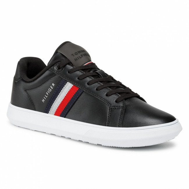 Sneakersy TOMMY HILFIGER - Essential Leather Cupsole FM0FM03424 Black BDS