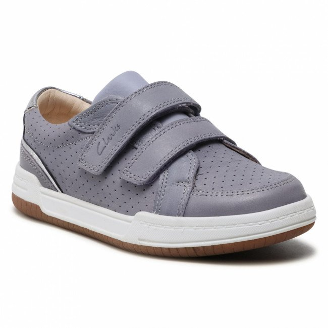 Sneakersy CLARKS - Fawn Solo K 261589777  Light Blue Leather