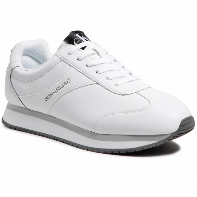 Sneakersy CALVIN KLEIN JEANS - Runner Sneaker Laceup YM0YM00037 Bright White