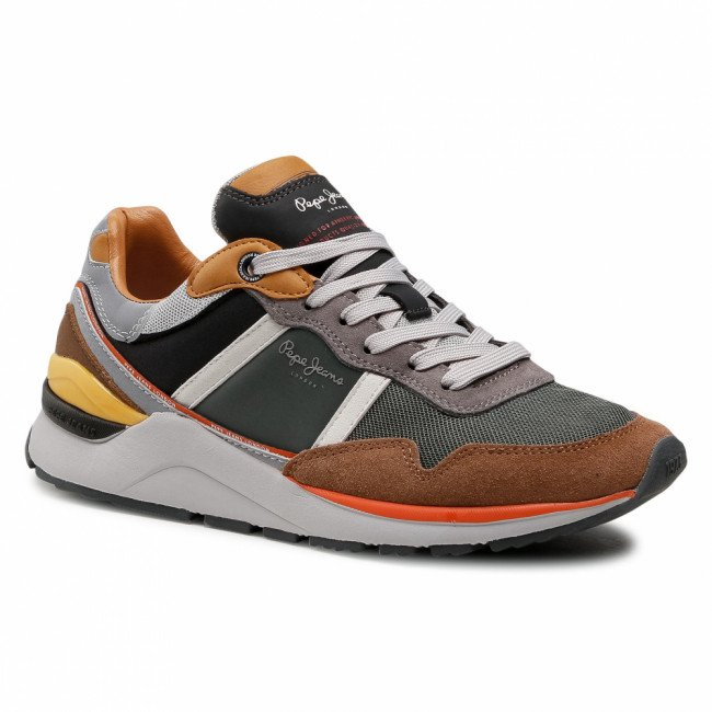 Sneakersy PEPE JEANS - X20 Basic PMS30734  Cognac 879