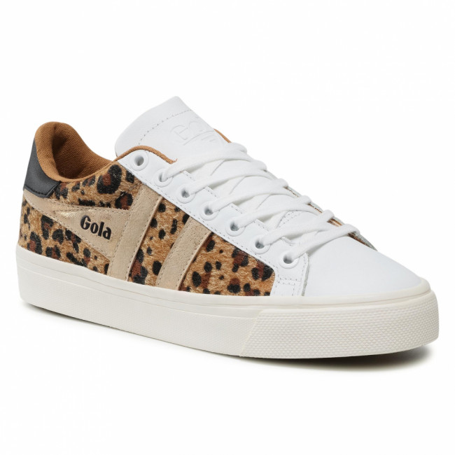 Sneakersy GOLA - Orchid II Africa CLB185 White/Leopard/Gold