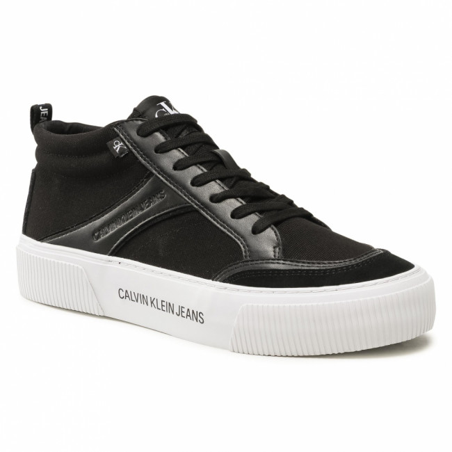 Sneakersy CALVIN KLEIN JEANS - Vulcanized Skate Mid Laceup Mix YM0YM00025 Black BDS