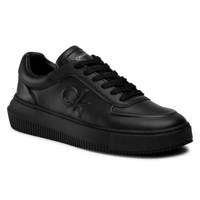 Sneakersy CALVIN KLEIN JEANS - Chunky Sole Laceup Oxford Lth YW0YW00065 Full Black BEH