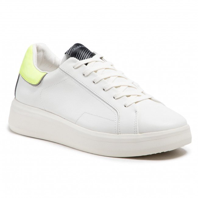 Sneakersy CRIME LONDON - Low Top Level Up 11200PP3.10 Biela