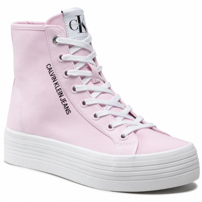 Sneakersy CALVIN KLEIN JEANS - Vulcanized Ff Highlaceup Co YW0YW00125  Pearly Pink TN9