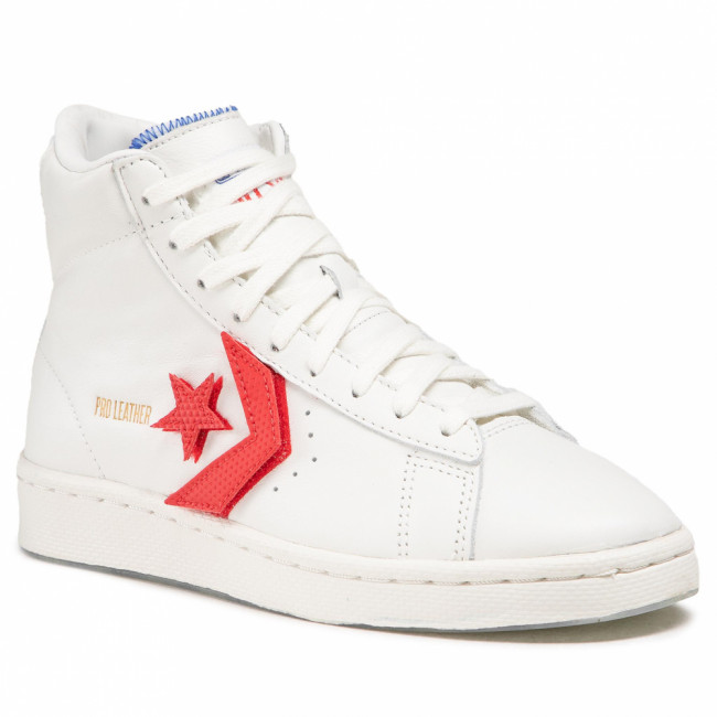 Sneakersy CONVERSE - Pro Leather Hi 170240C Vintage White/University Red