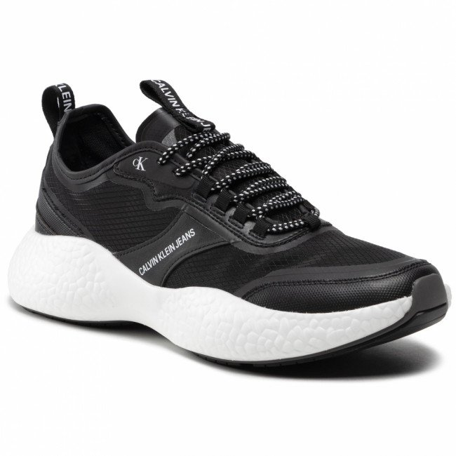 Sneakersy CALVIN KLEIN JEANS - Runner Sneaker Laceup Pu-Ny YM0YM00044 Black BDS